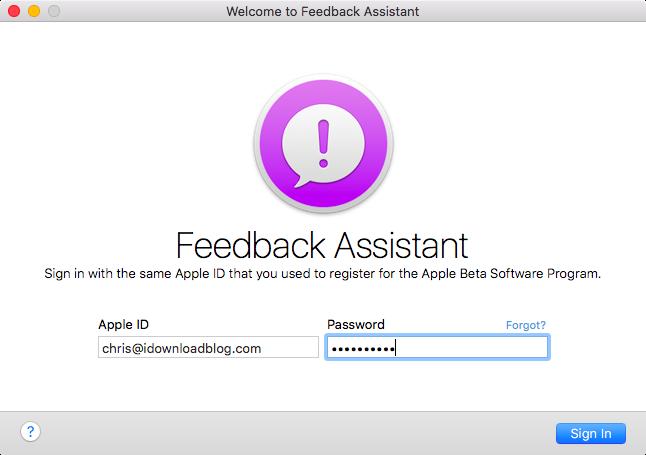 OS X El Capitan Feedback Assistant teaser 001