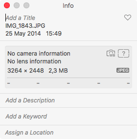 Assign location to a photo on Mac