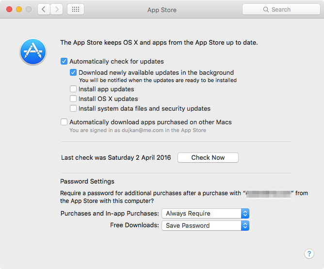 Require password for Purchases and In-App Purchases on Mac