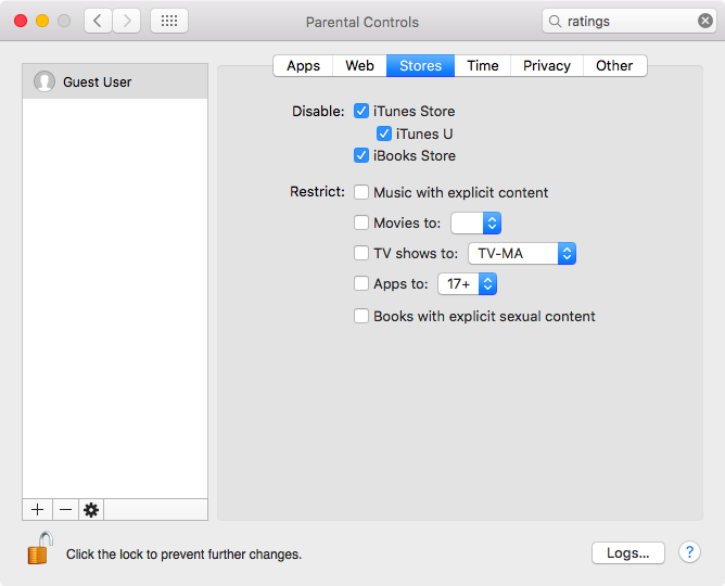 Disable iTunes Store, iTunes U and iBooks Store on Mac