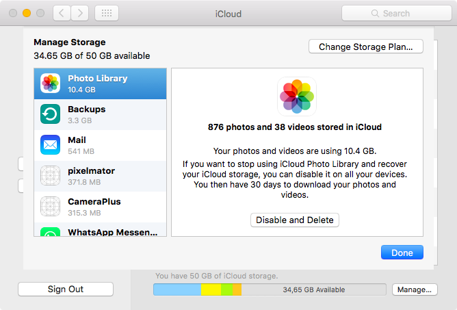 Disable and Delete iCloud storage on Mac