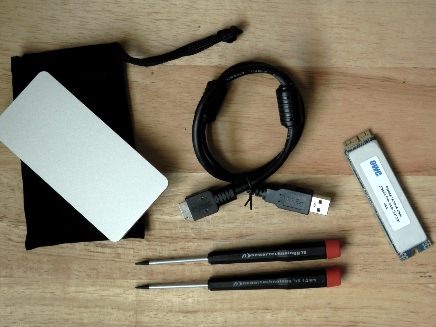OWC Aura Pro SSD Review what's included