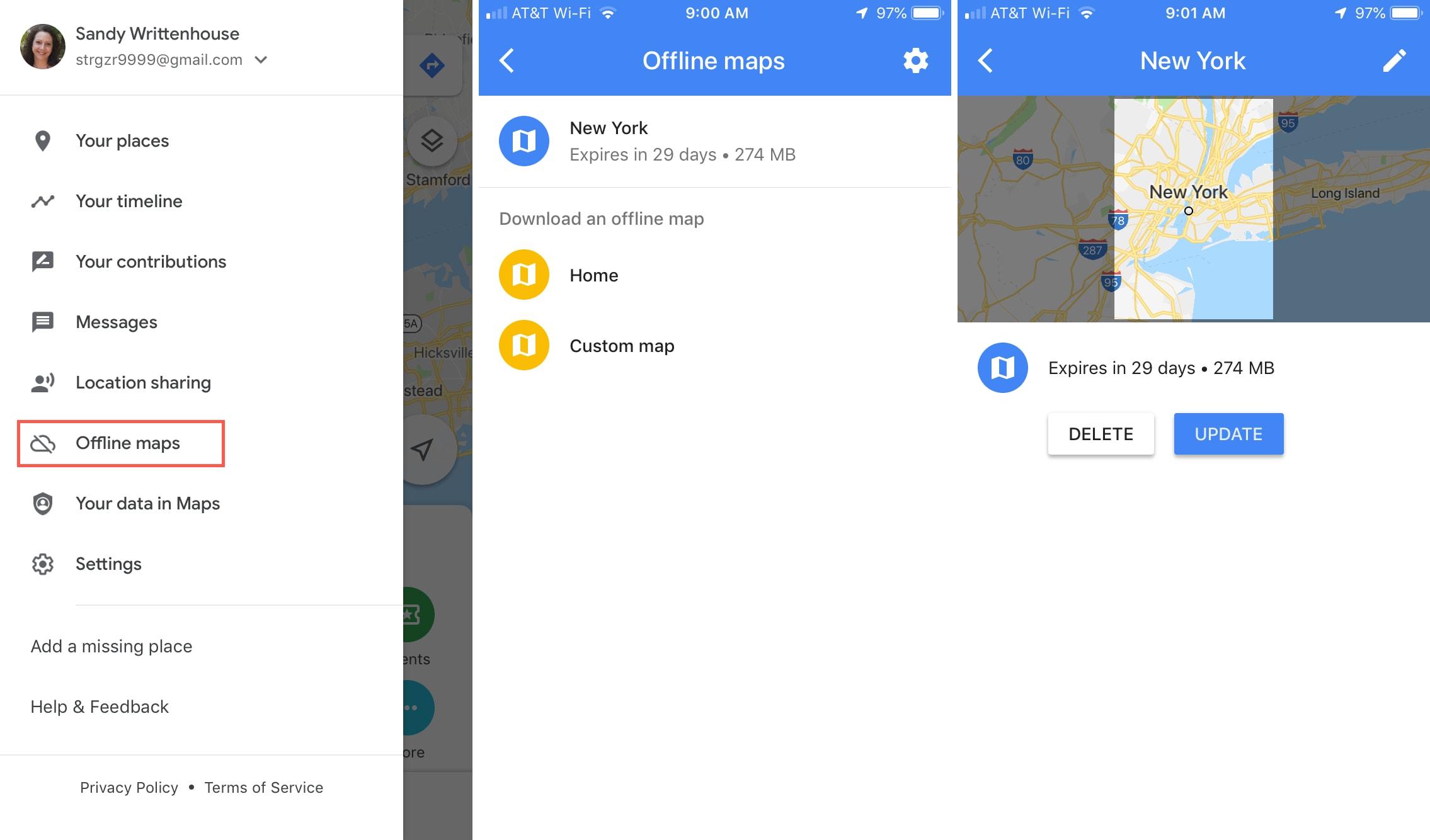 Offline Maps Google Maps