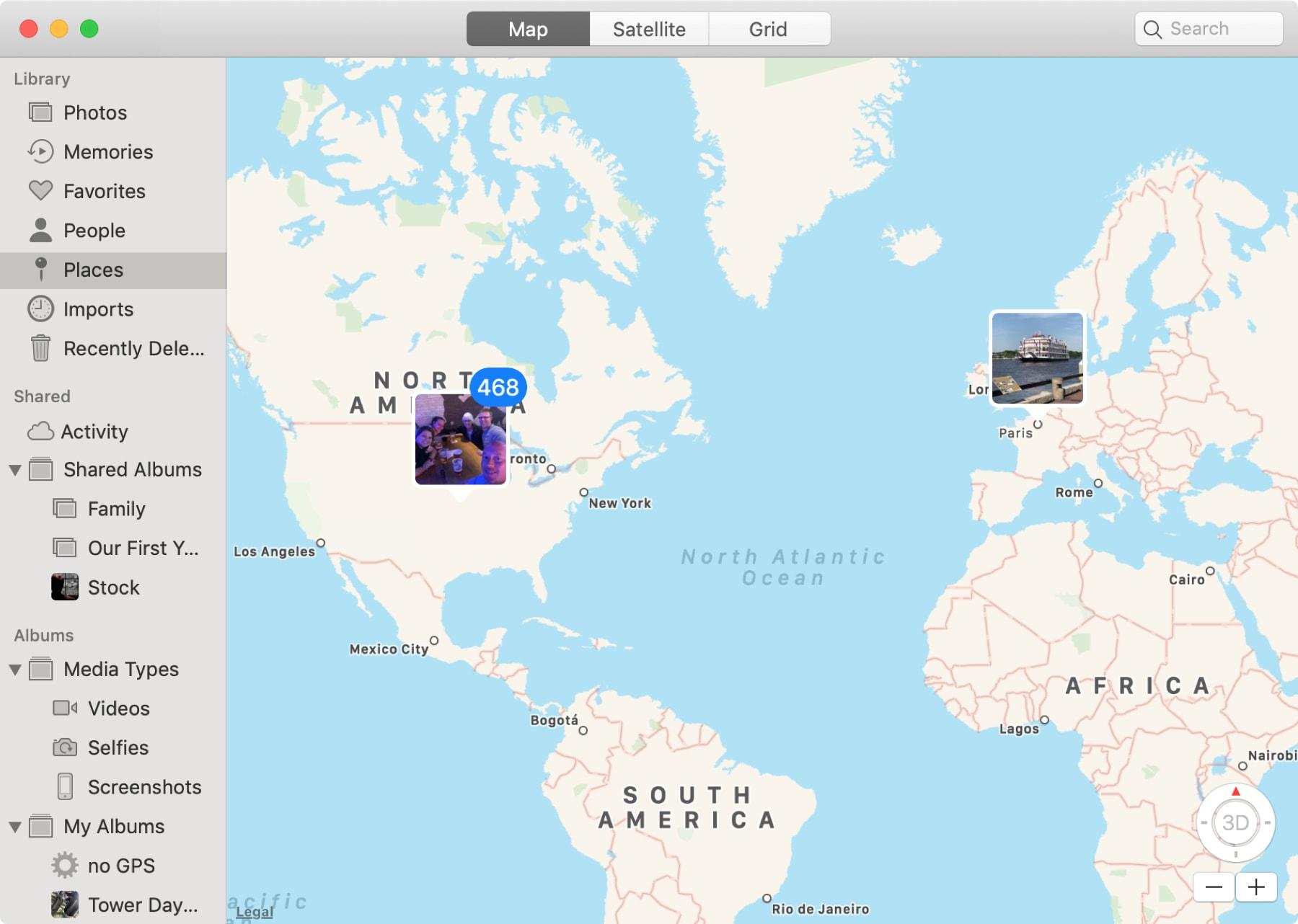 Places Map Photos App Mac