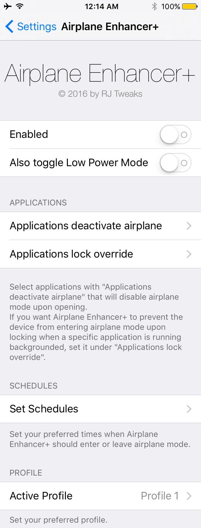 Airplane Enhancer+ preferences pane