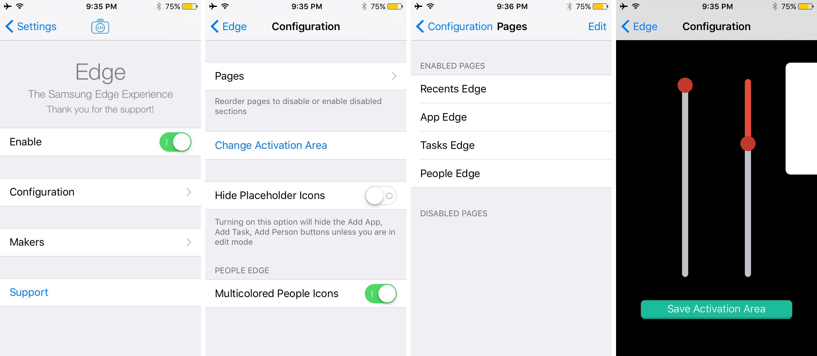 Edge Preferences Pane Options to Configure