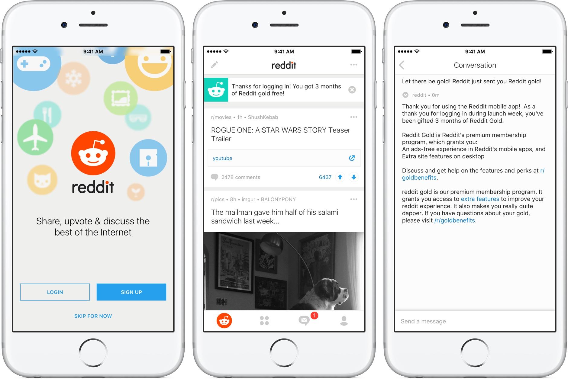 Reddit for iOS iPhone screenshot 001
