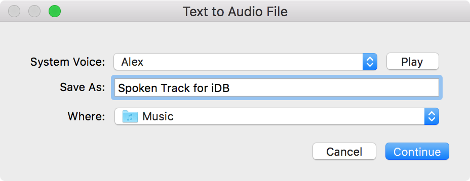 Save Text Messages as Spoken Tracks for iTunes 3