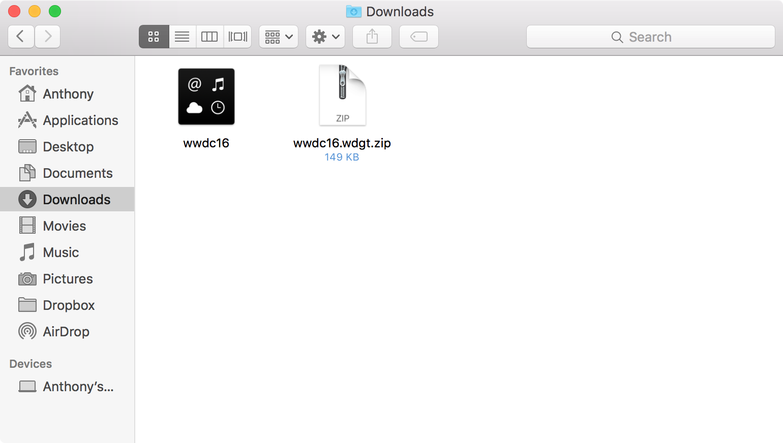 WWDC 2016 widget file