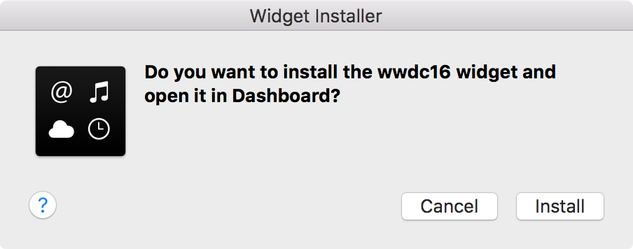 Install WWDC 2016 widget on Mac