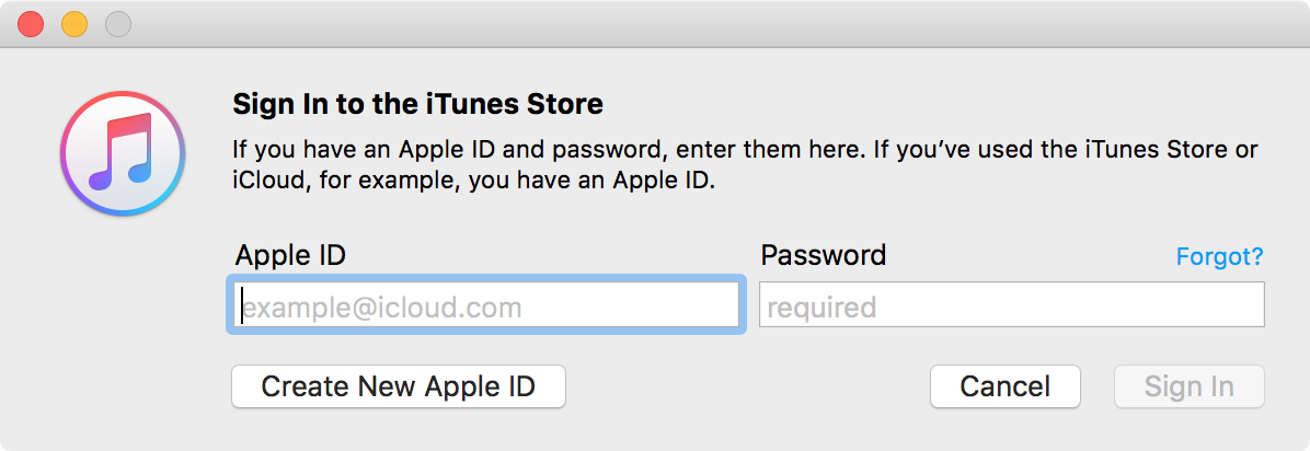 Sign in to Mac with Apple ID