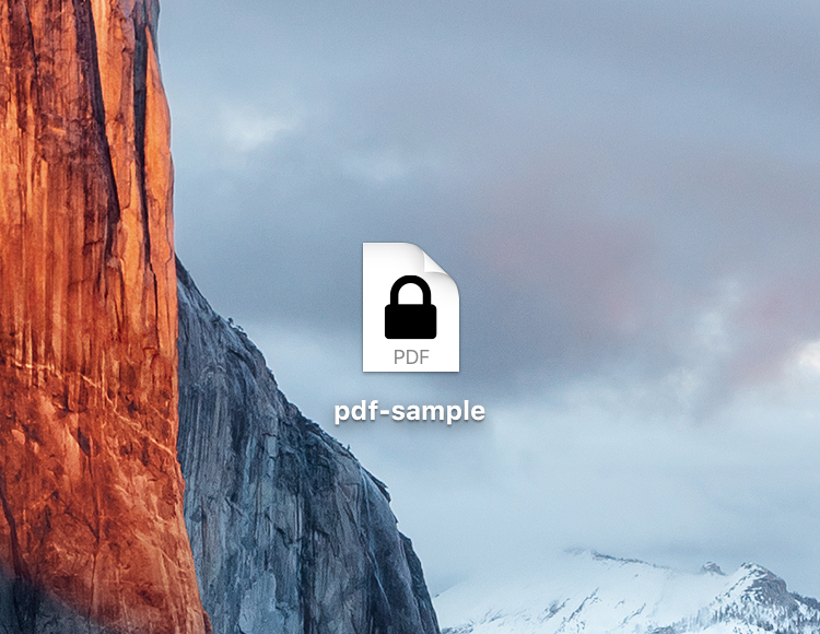 Locked PDF file Mac