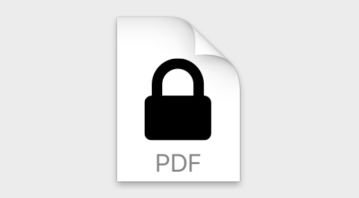 Locked PDF icon