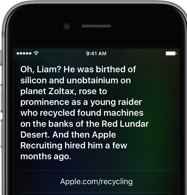 Siri responses about Liam iPhone screenshot 001