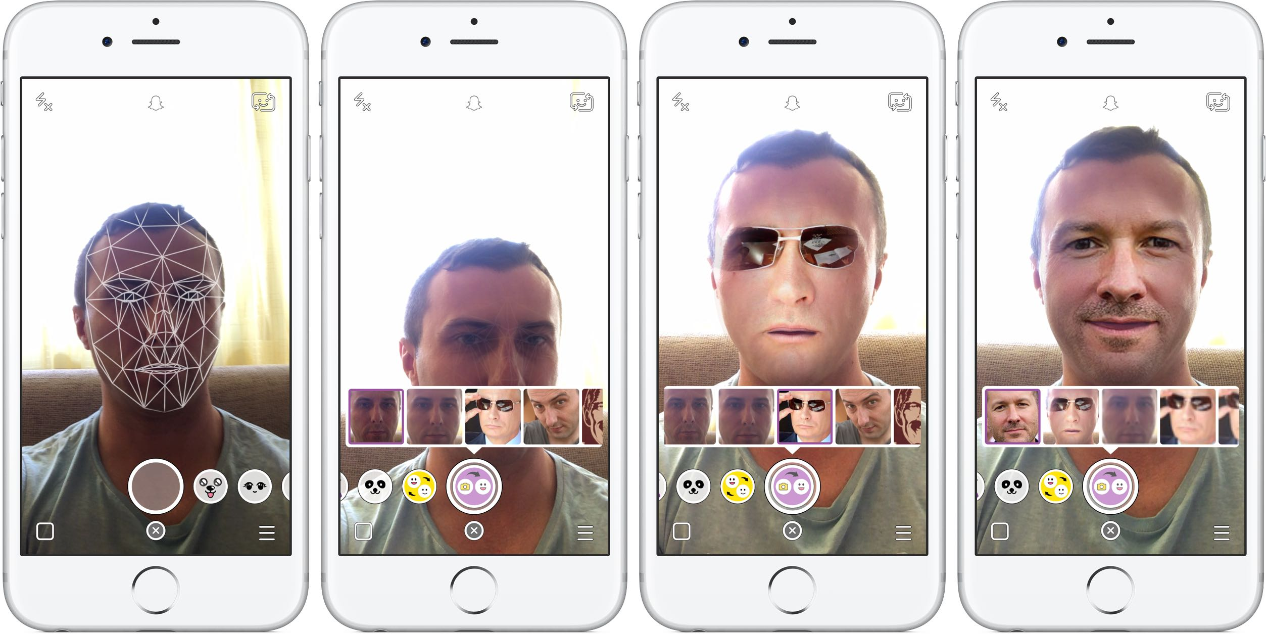 Captura de pantalla 001 de Snapchat Face Swap para iPhone