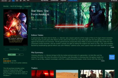 All Star Wars movies now available on iTunes