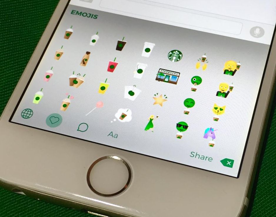 Starbucks Keyboard 1.0 para el teaser 001 de iOS