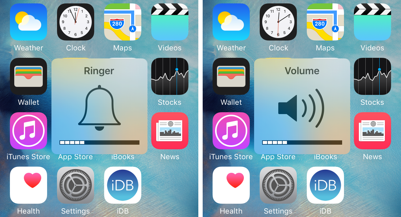 SwitchHUD toggle between ringer and media volume with Activator