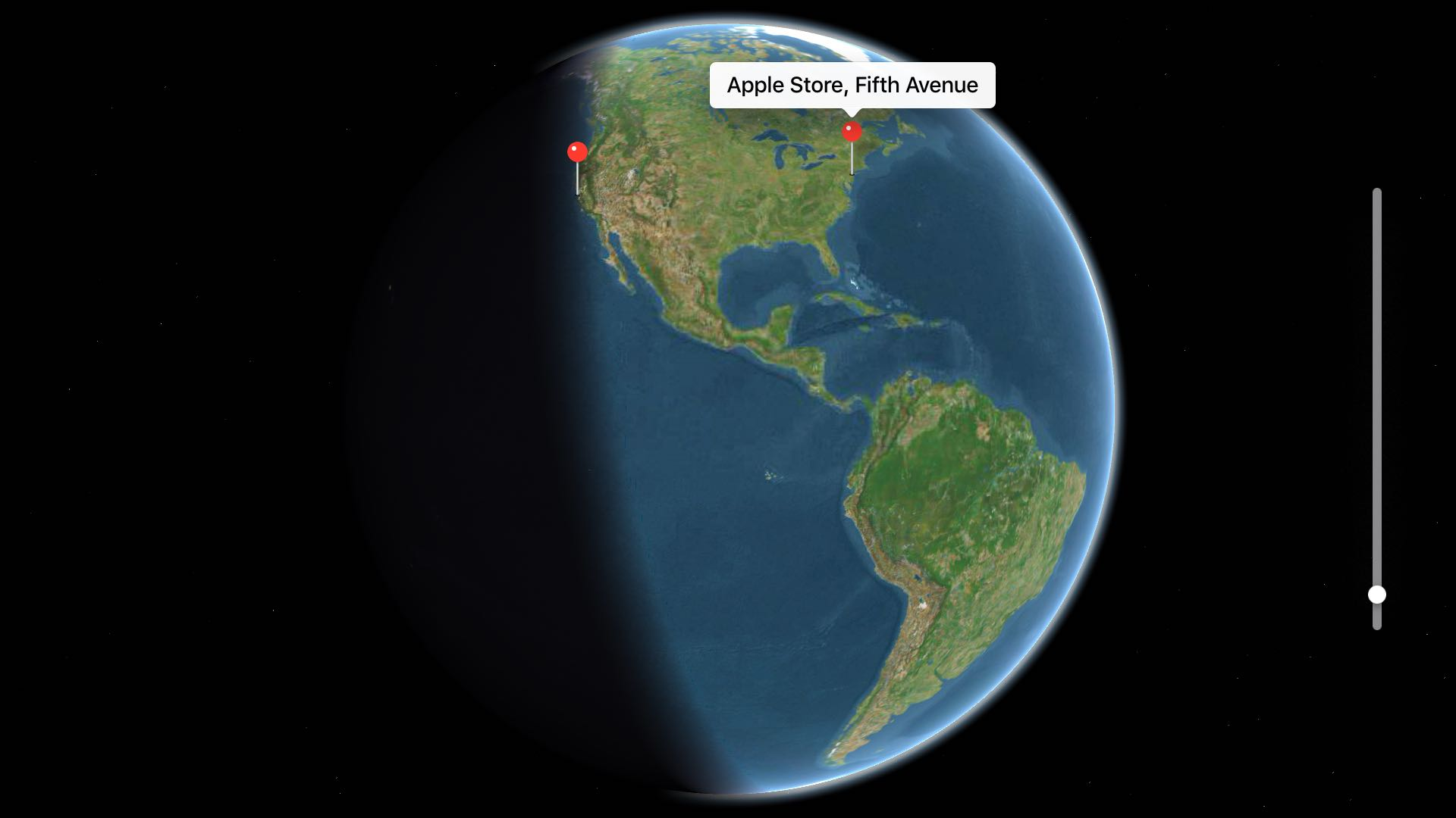 Mapas de TV para tvOS Earth view Captura de pantalla de Apple TV 001