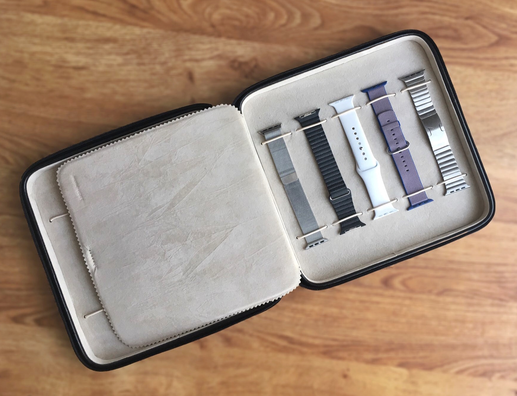 Tech Swiss Watch Case Storage Portfolio For Apple Watch Bands