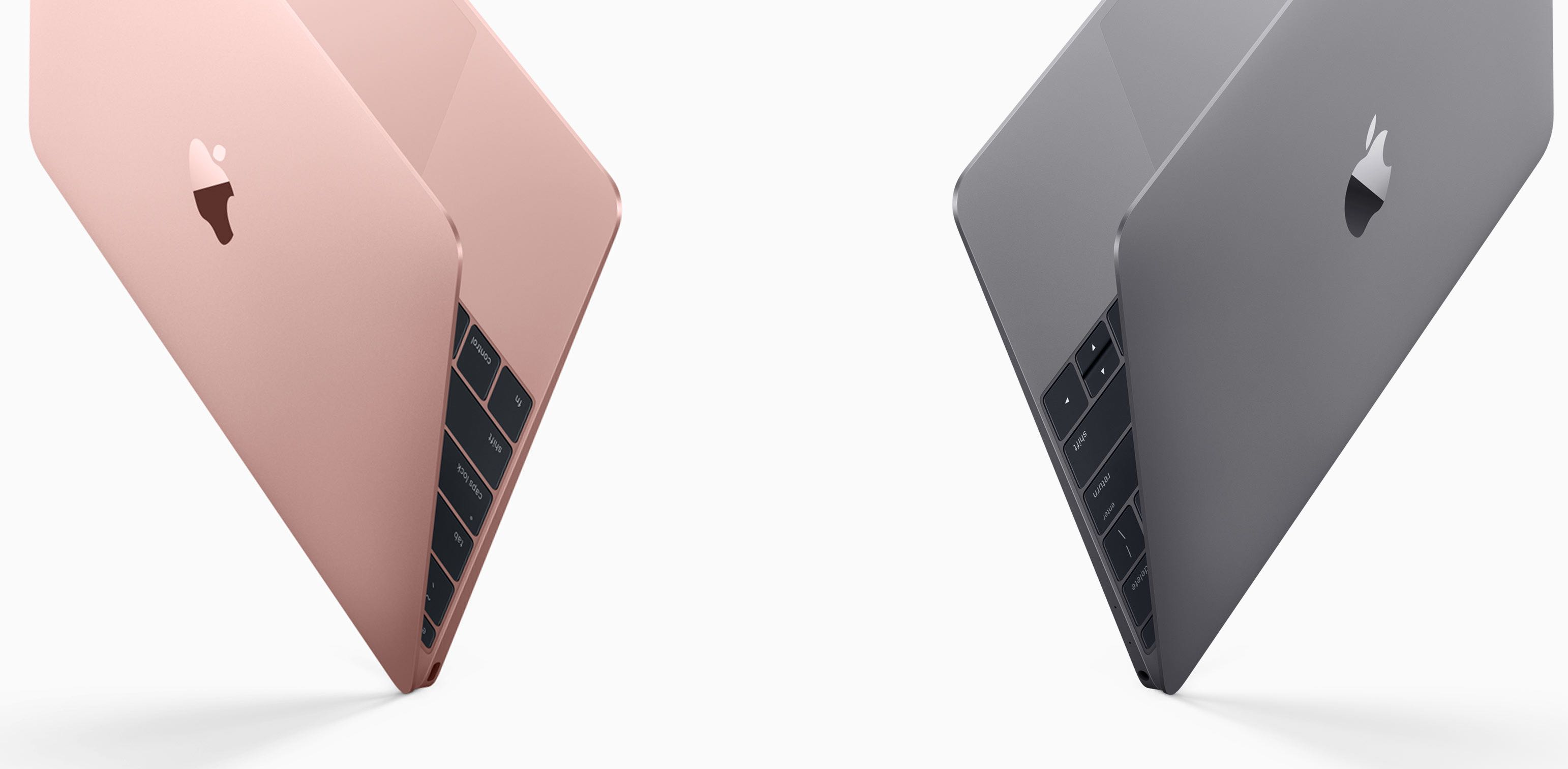 Twelve inch MacBook Early-2016 Rose Gold Space Gray 001