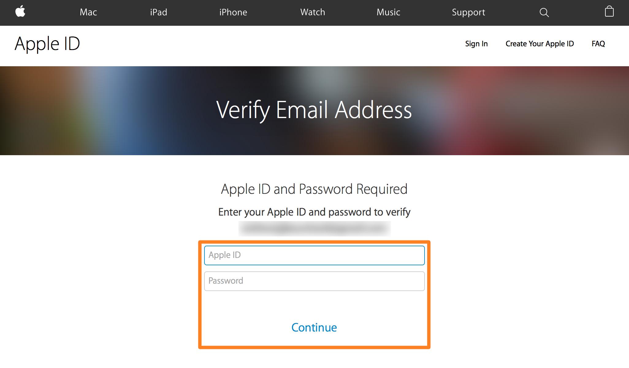 Verify Apple ID Email Sign In