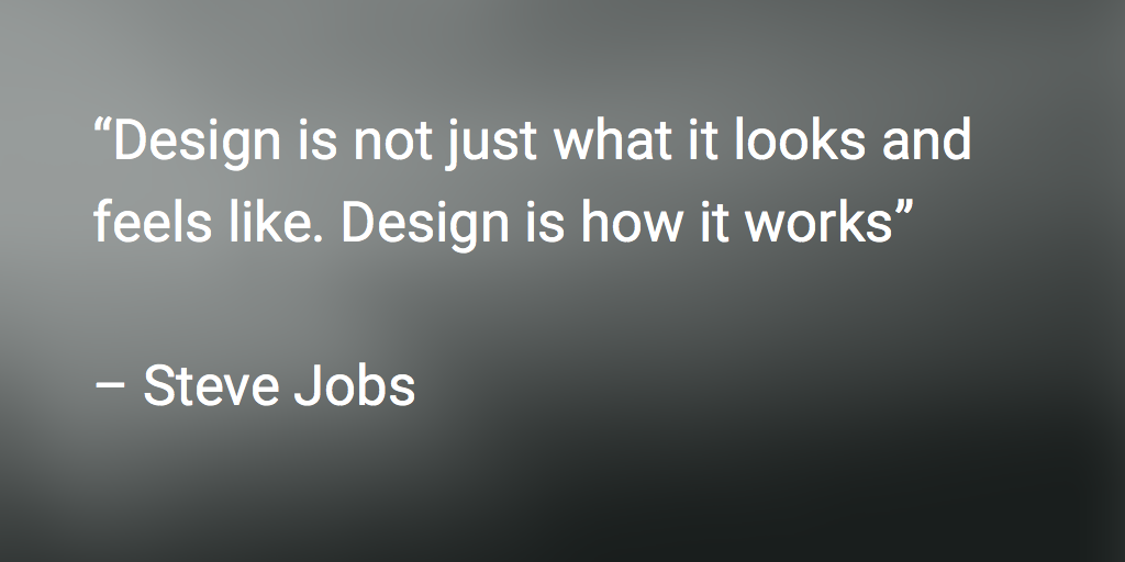 design quote steve jobs