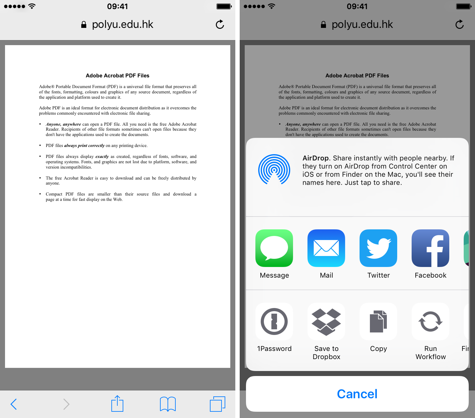 How to search a pdf document on ipad