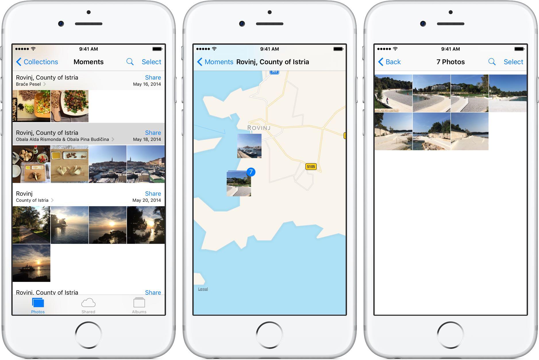 Photos map iPhone