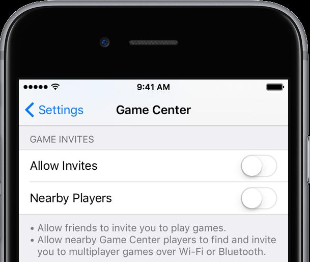 iOS 9 Settings Game Center iPhone screenshot 002