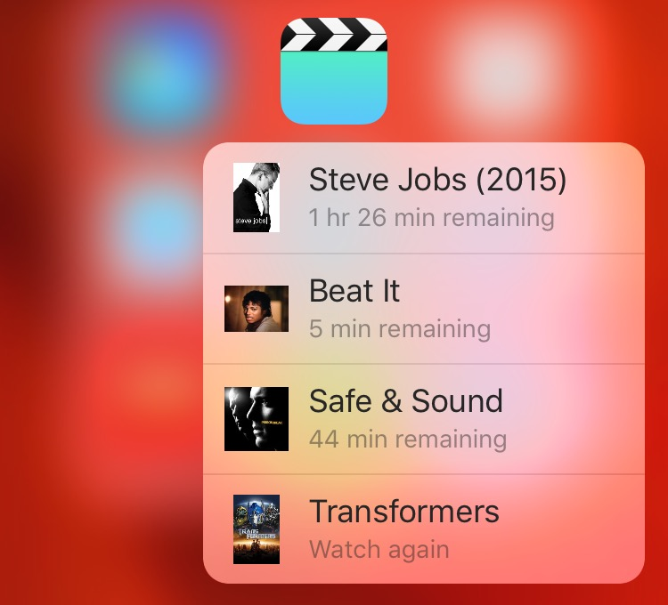 iOS 9 Videos 3D Touch Home screen shortcuts iPhone 6s screenshot 001