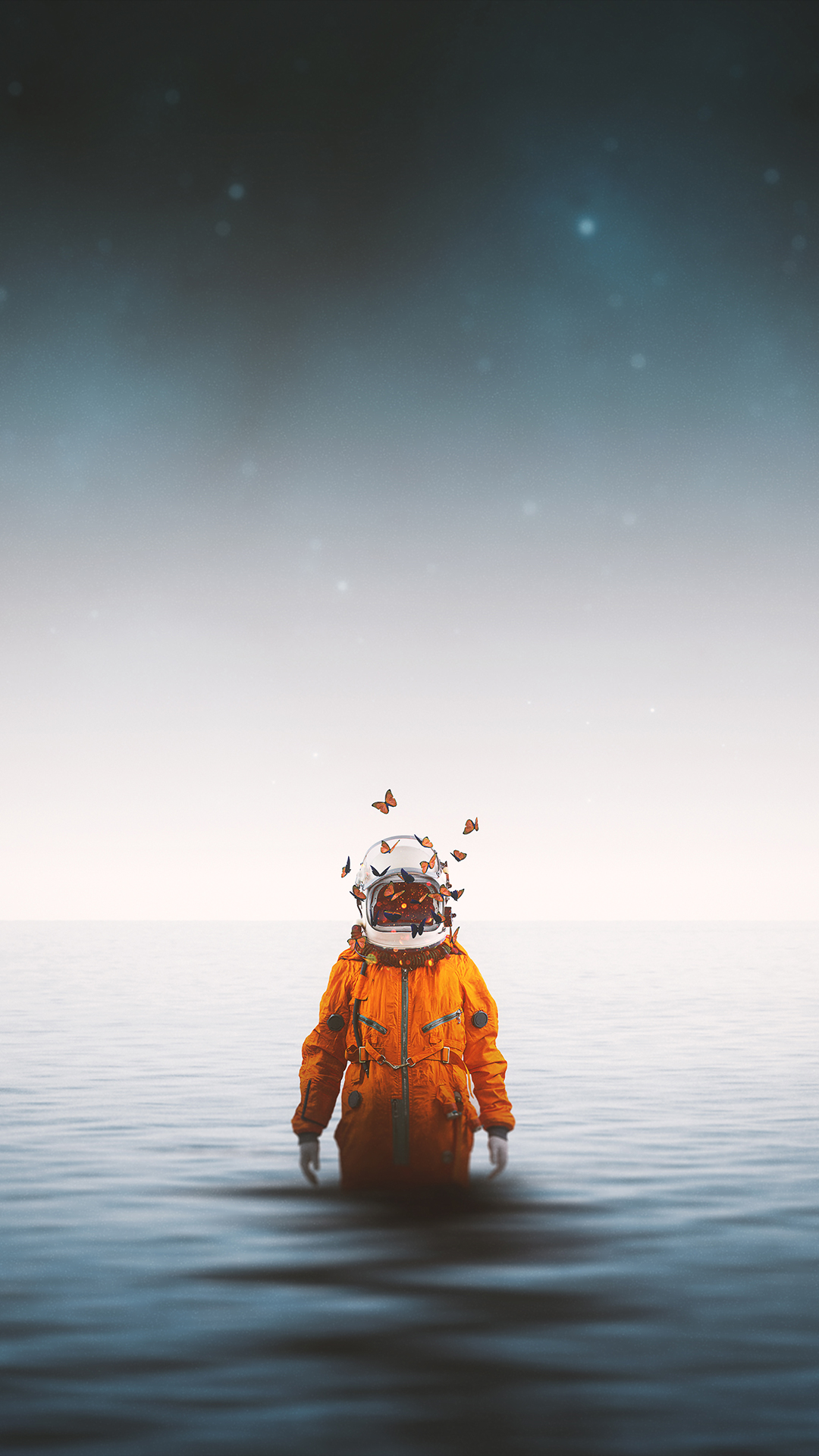iPhone wallpaper abstract portrait astronaut macinmac