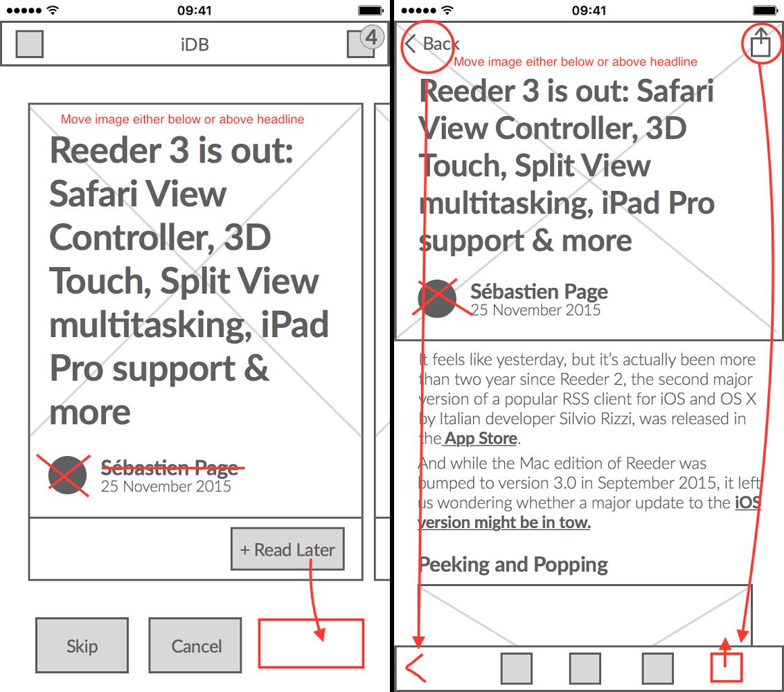 lo-fi design of app