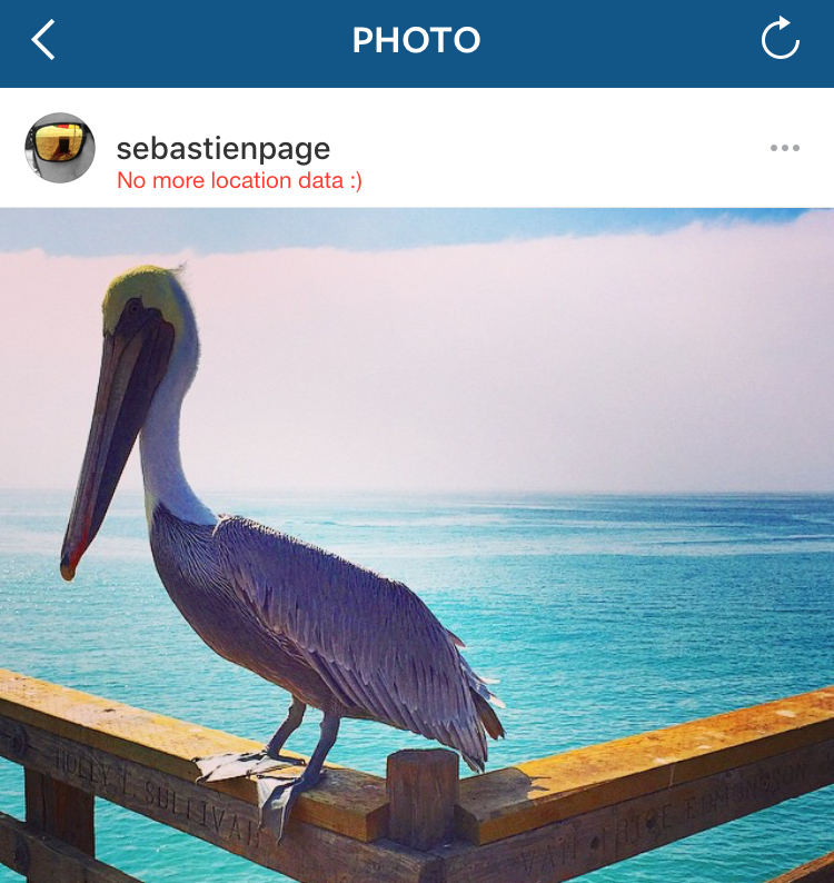 location removed from instagram photo