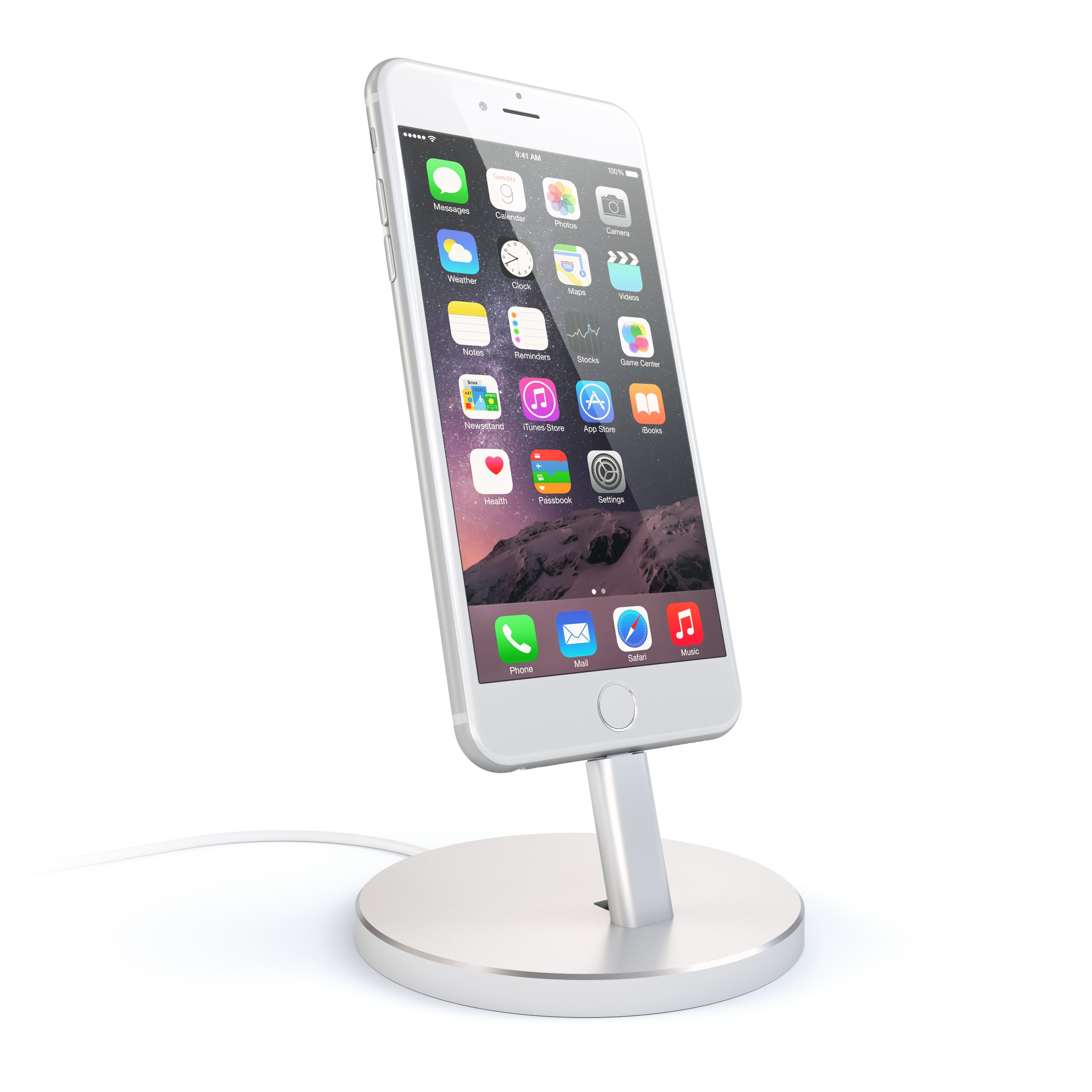 satechi stand iphone silver