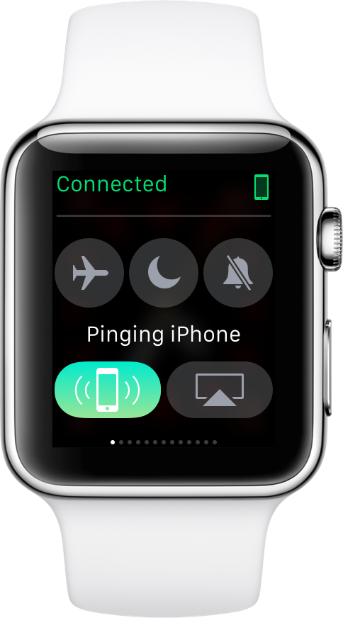 watchOS ping iPhone Settings glance Apple Watch screenshot 001