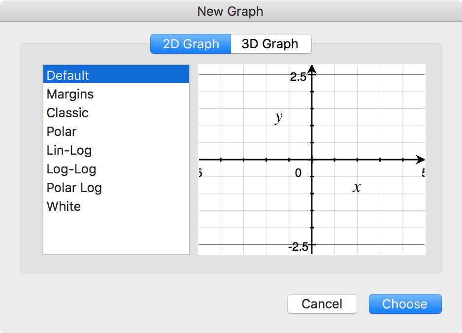 Aplicación 2D Graph Grapher Mac