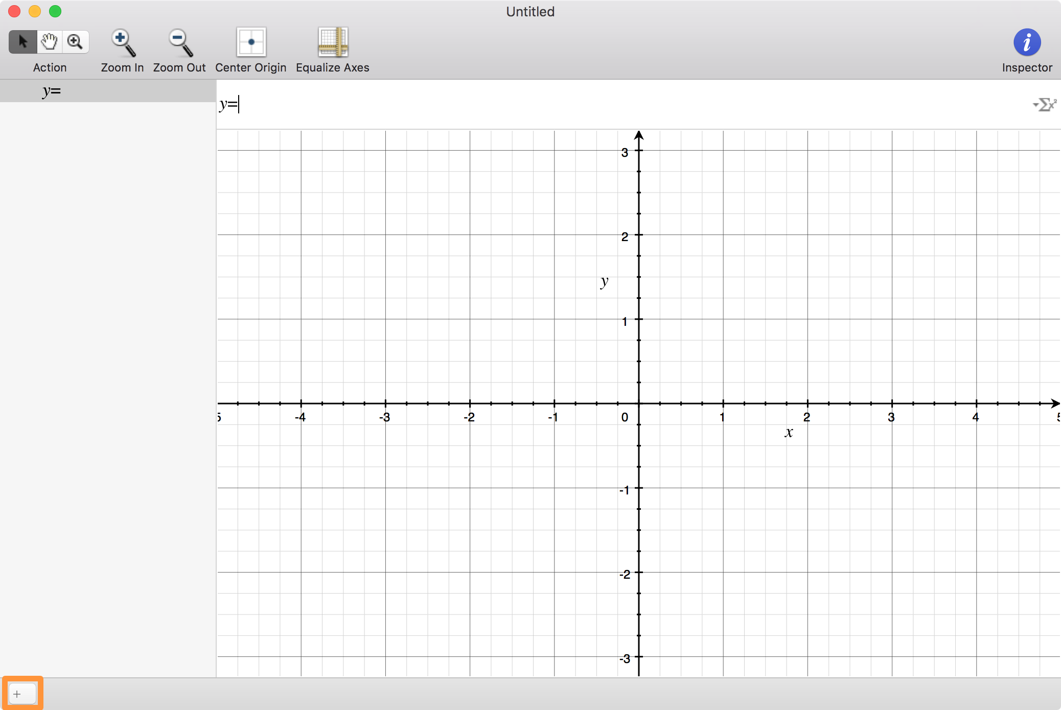 Add a new equation to Grapher on Mac