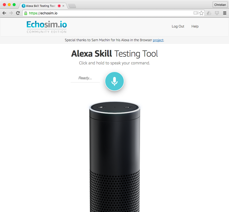 Alexa Simulator web screenshot 001