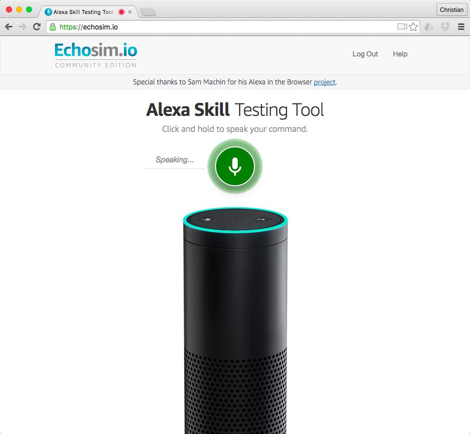 Alexa Simulator web screenshot 002