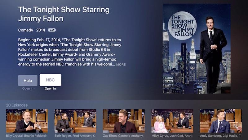 Apple TV universal search NBC