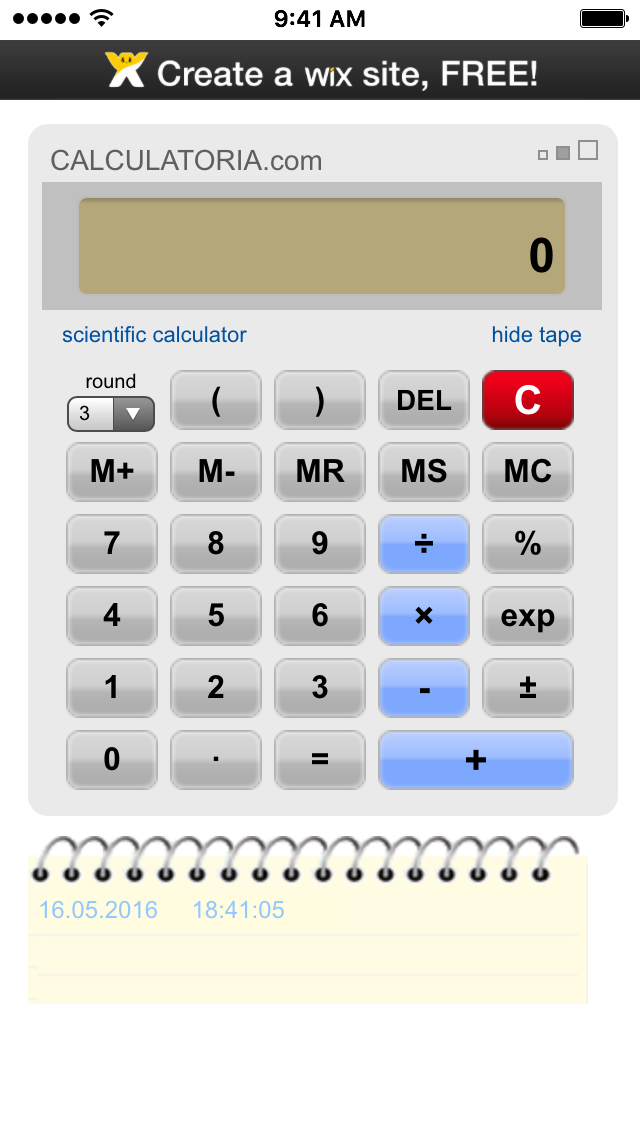 Calculator iSkins app
