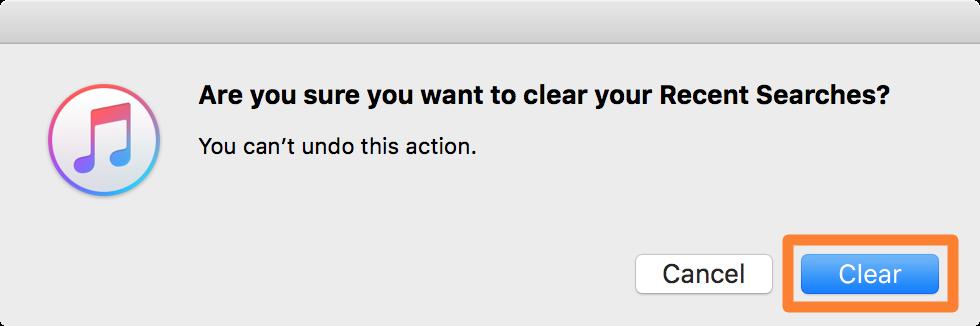 Borrar el historial de búsqueda de Apple Music en Mac 3