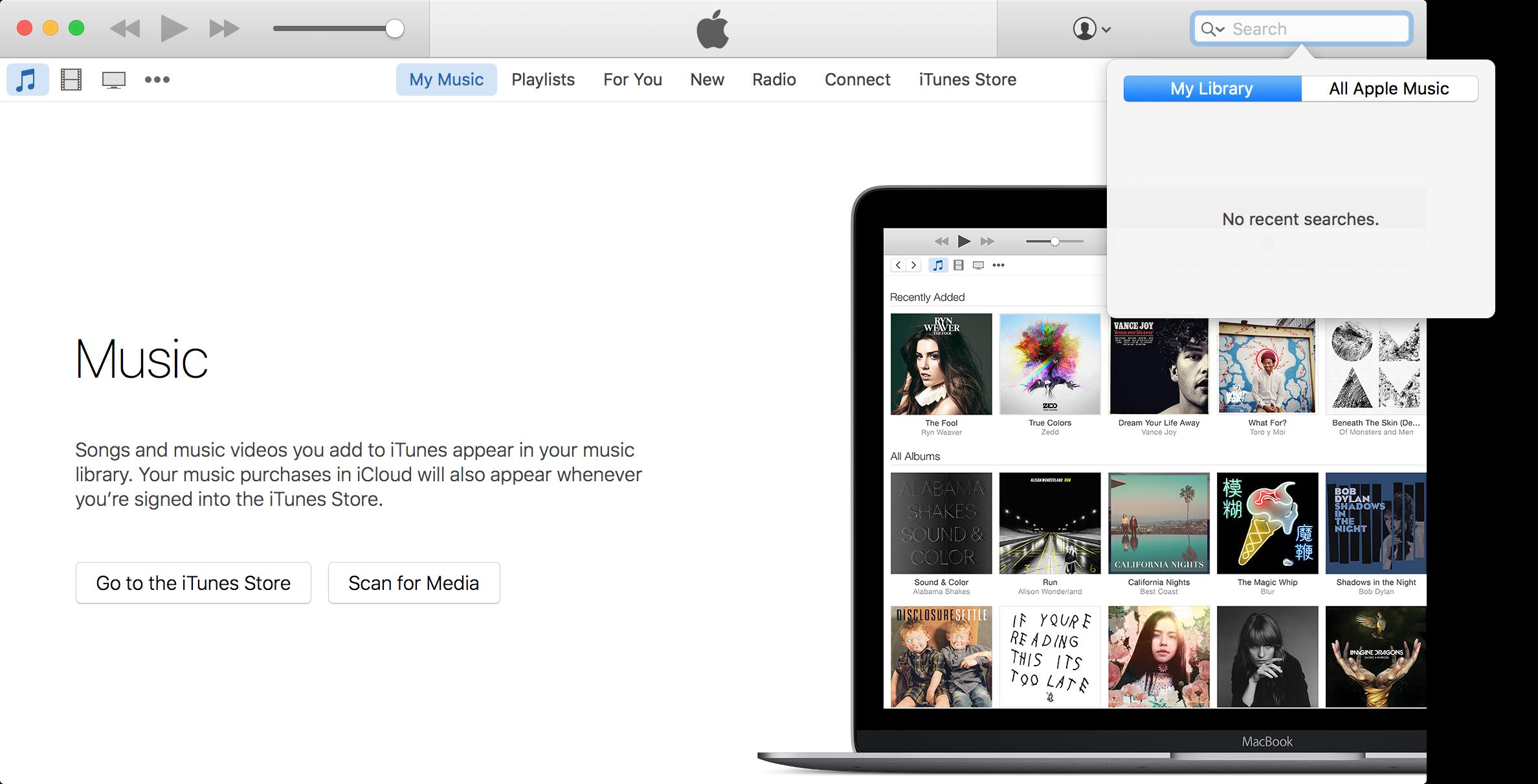 Borrar el historial de búsqueda de Apple Music en Mac 4