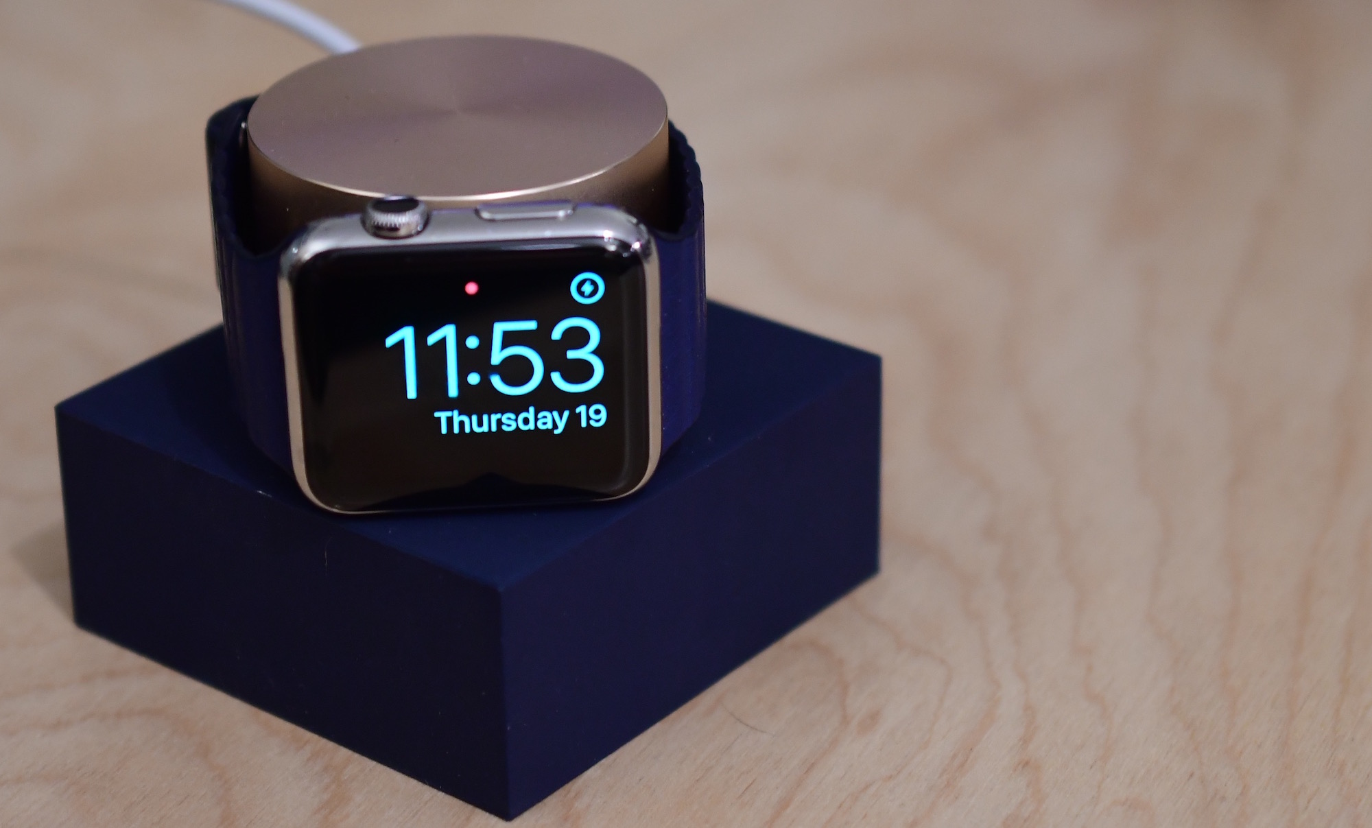 Native Union Apple Watch Dock Nightstand Mode