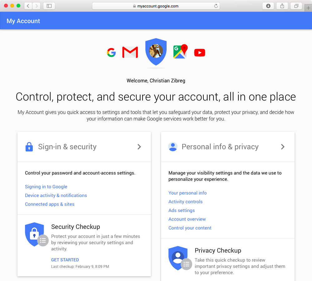 Delete Google Account web screenshot 001
