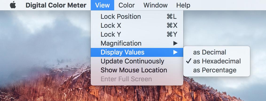 Digital Color Meter Hexadecimal