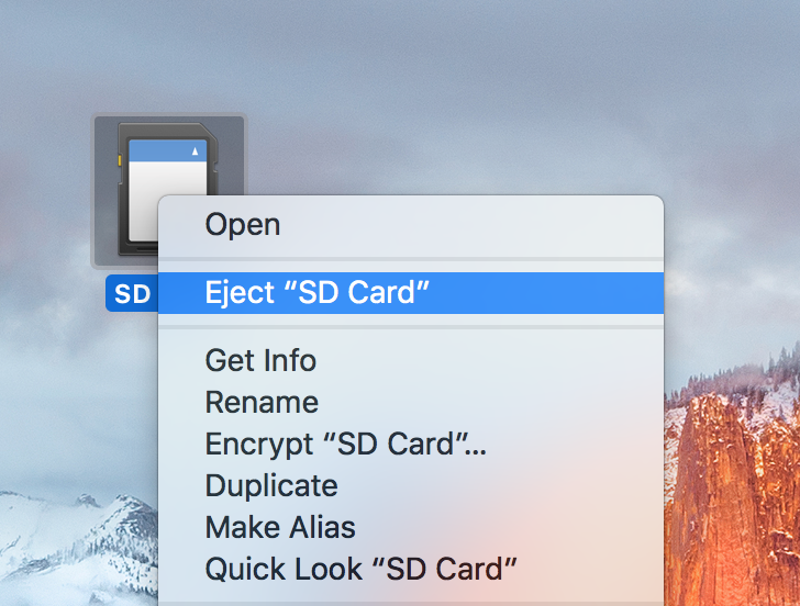 Eject Media With the Right Click Menu on Mac