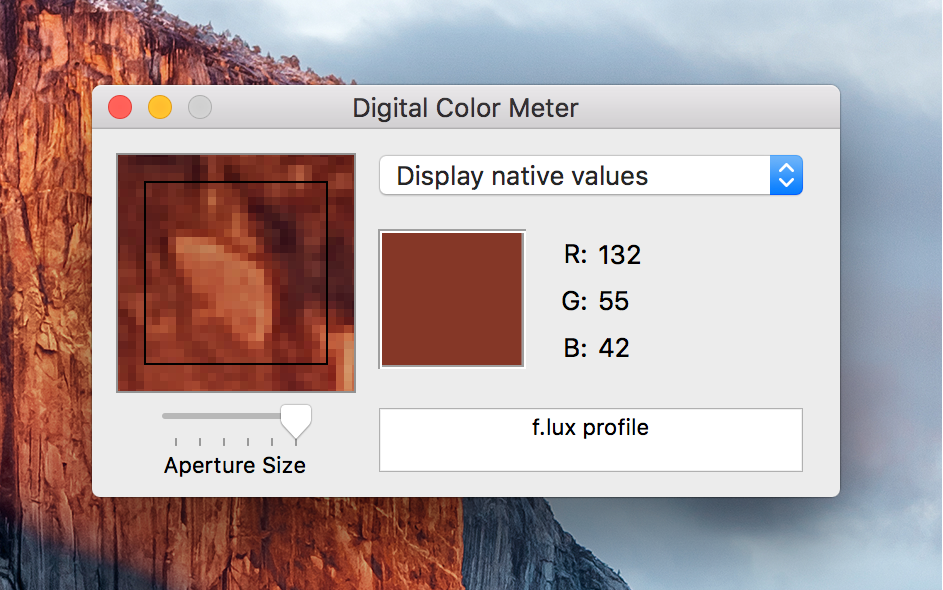 Finding the RGB or Hexadecimal value of any pixel on your Mac screen