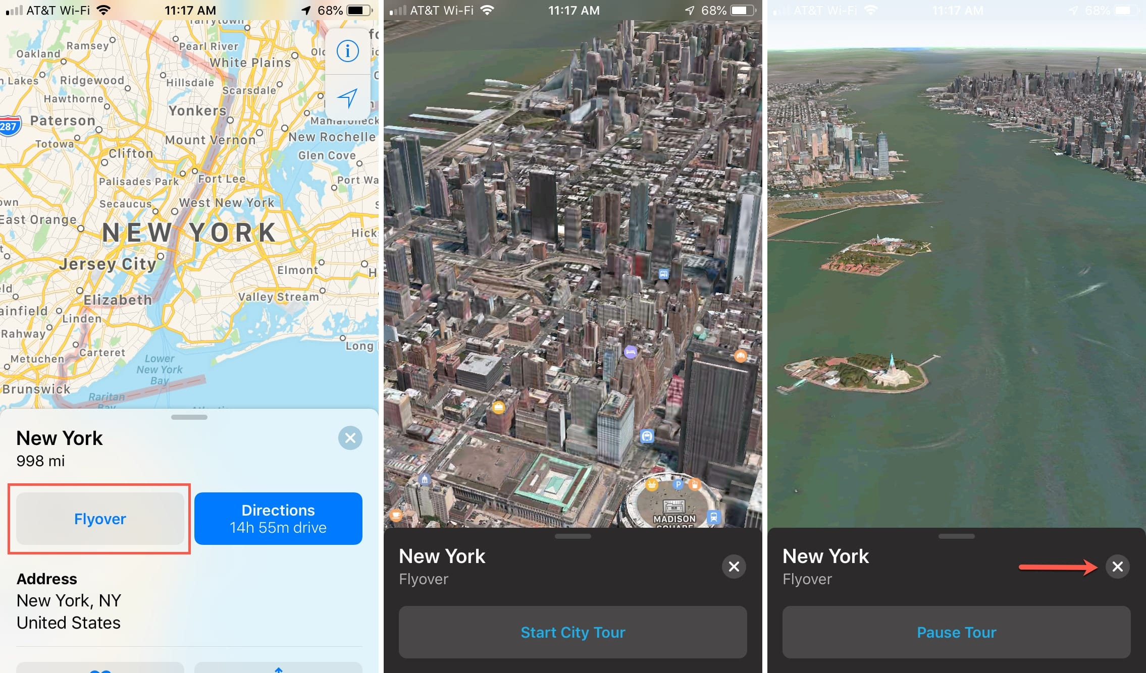 Flyover Apple Maps NYC